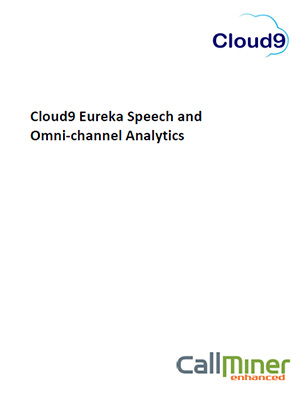 Cloud9 Eureka Speech and Omni-channel Analytics infosheet