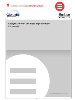 Cloud9 Ember Analytics Driven Business Improvement 6-step Guide infosheet